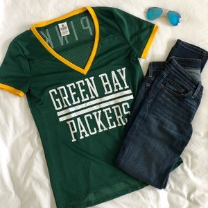 Victoria Secret Pink Green Bay Packers Jersey